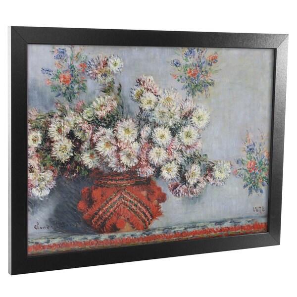 Claude Monet, 'Chysanthemums, 1878' Framed Art