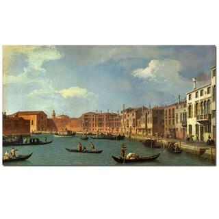 Canaletto 'Canal of Santa Ciara Venice' Canvas Art