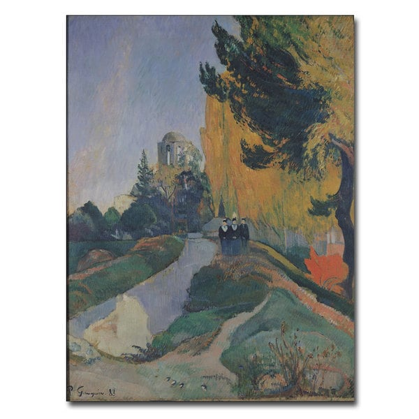 Paul Gauguin 'The Alyscamps, Arles, 1888' Canvas Art