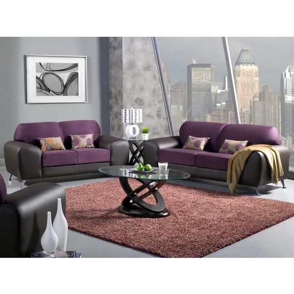 Furniture Of America Mara Clara 2 Piece Contemporary Sofa