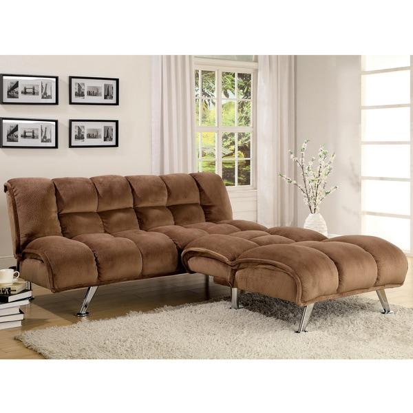 Shop Furniture Of America Polino 2 Piece Fabric Futon Set
