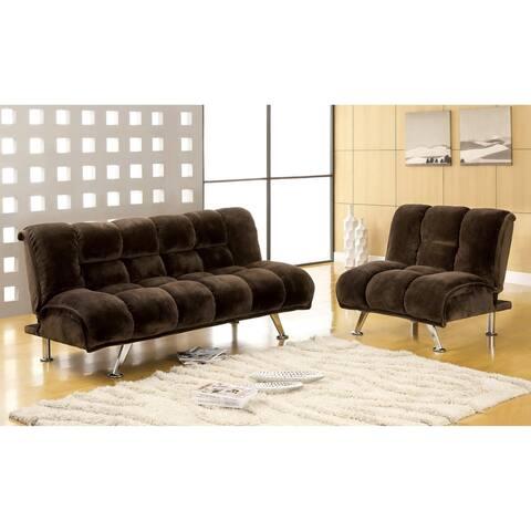 Furniture of America Gier Modern Brown Fabric 2-piece Futon Set