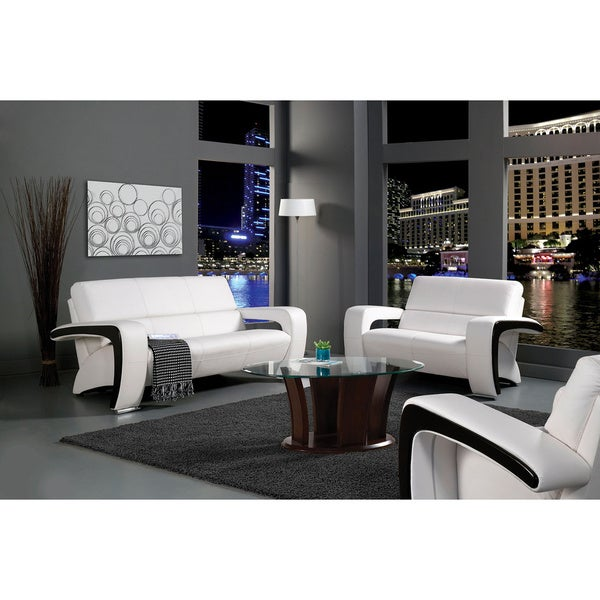 Furniture of America Trenzi Three-piece Sofa Set