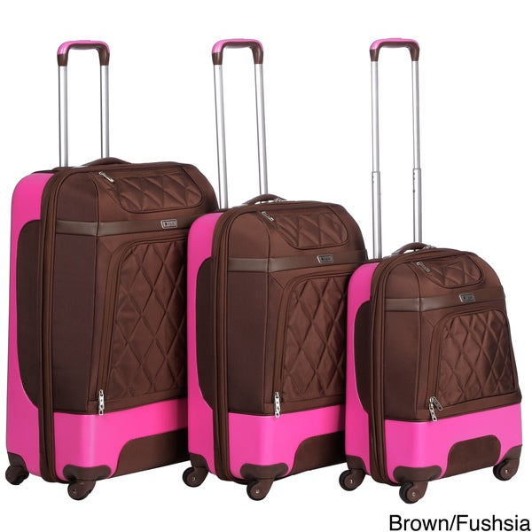 Heys USA Fuse Deluxe 3-piece Hybrid Spinner Luggage Set