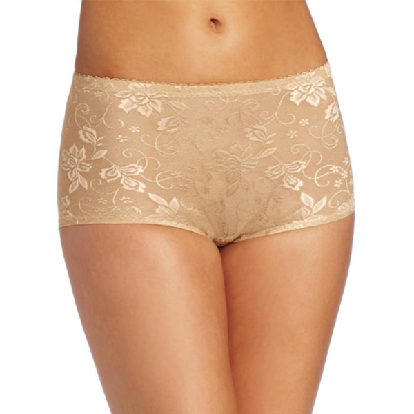 81bcaabeaf7 Shop Stanzino Women s Nude Lace Detailed Girdle Boyshorts - Free ...