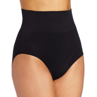 Stanzino Women's Black High-waist Girdle Panties