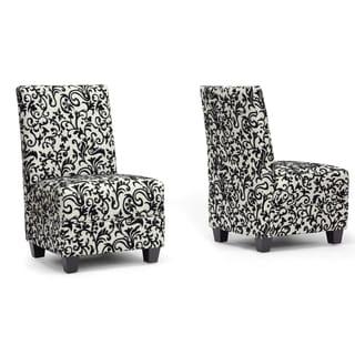 Baxton Studio Cream Microfiber Slipper Chair (2)