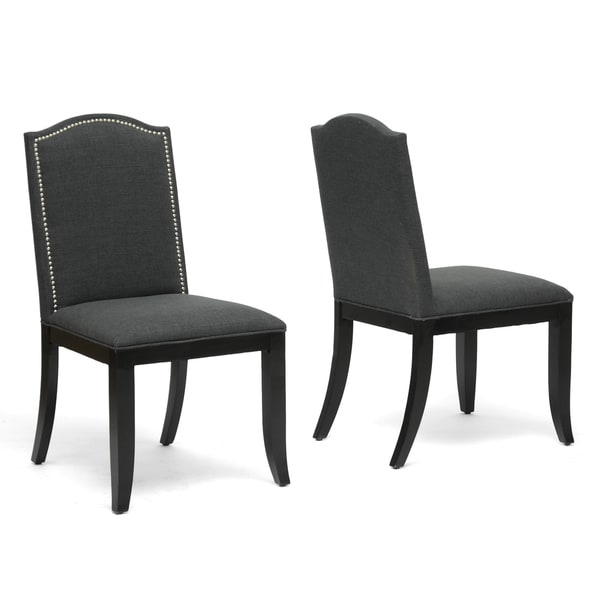 Baxton Studio Grey Dining Chair (Set of 2)