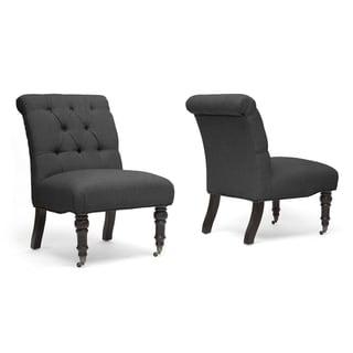 Baxton Studio Grey Slipper Chair (Set of 2)