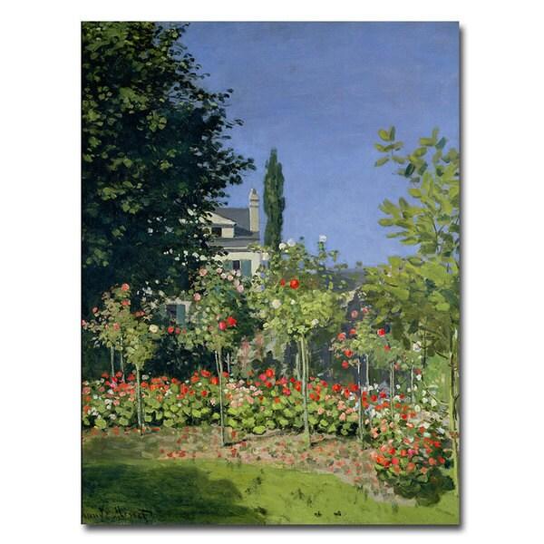 Claude Monet 'Flowering Garden at Sainte-Adresse, 1866' Art