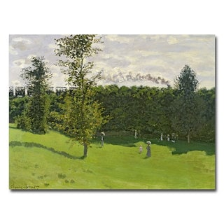 Claude Monet 'Train in the Country 1870-71' Canvas Art