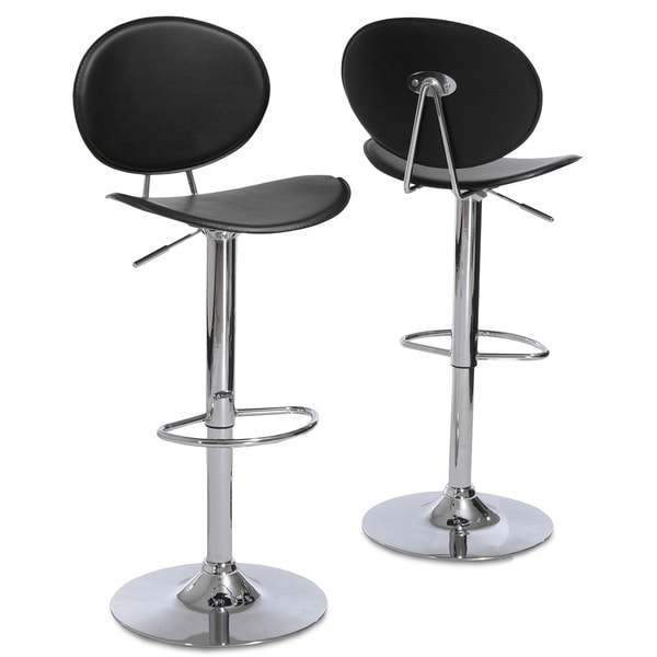 Fijian Black Adjustable Barstools (Set of 2) by Christopher Knight Home