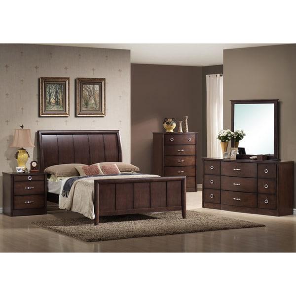 Overstock Com Bedroom Furniture: Argonne King 5-piece Dark Brown Wooden Bedroom Set
