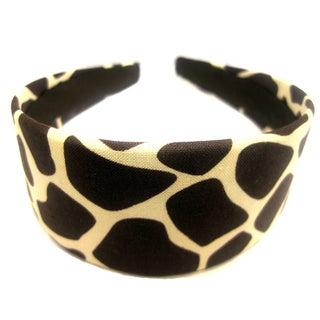 Crawford Corner Shop Brown Ivory Giraffe Print Headband