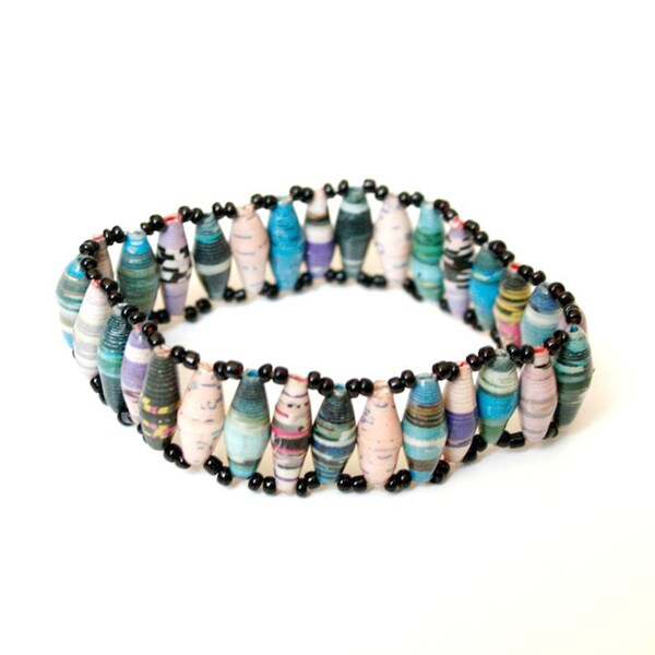 Multicolor Classic Cuff Bracelet (Uganda)