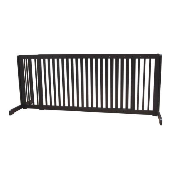 Dark Walnut Free-standing 57-103-inch Pet Gate