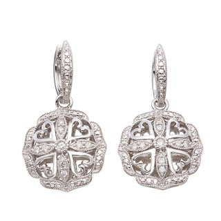 Sterling Silver 1/5ct TDW Diamond Vintage-inspired Earrings (H-I, I2-I3)