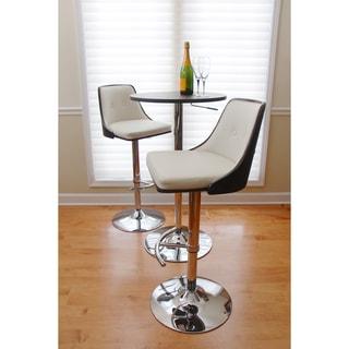 Nueva Mid-century Modern Wenge Wood Adjustable Barstool