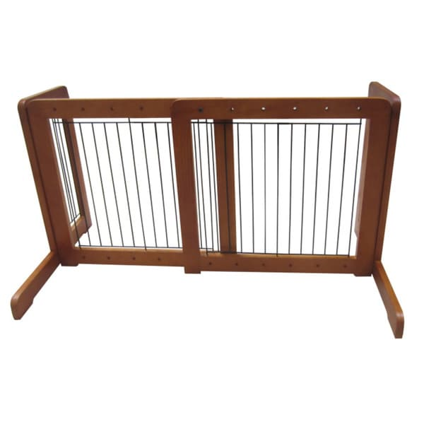 Honey Oak Free-standing 23.6-39.4-inch Pet Gate