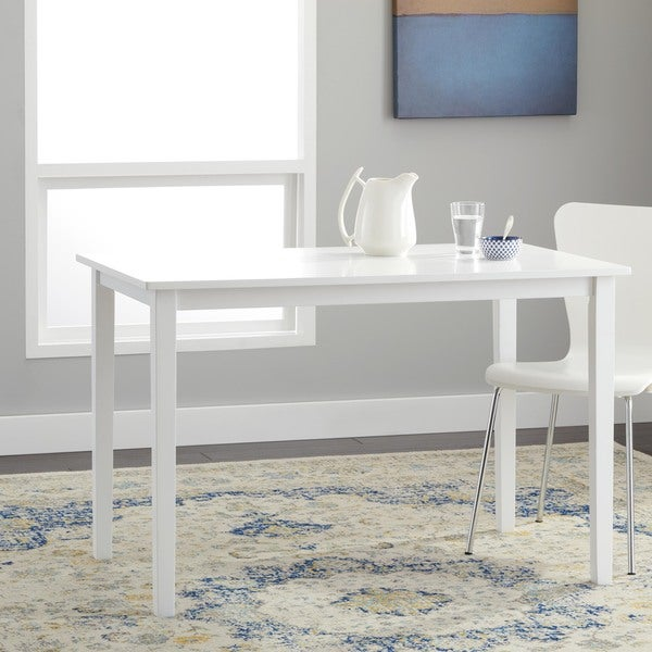Simple Living Shaker Dining Table in White