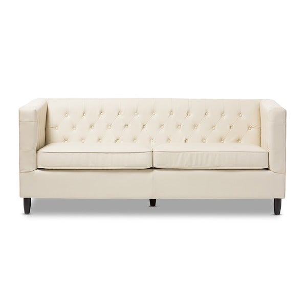 beige leather sofa bed divani casa knight modern sectional and brown with built in footrests studio cream