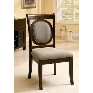 Furniture of America Enzo Dark Walnut Dining Chairs (Set of 2)