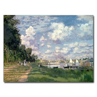 Claude Monet 'The Marina at Argenteuil 1872' Canvas Art