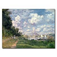 Claude Monet 'The Marina at Argenteuil 1872' Canvas Art - Multi