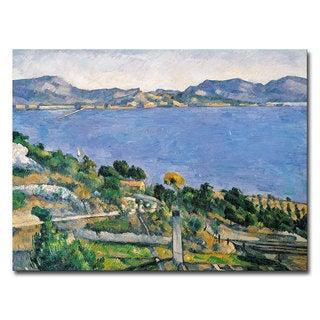 Paul Cezanne 'View of the Marseilles Bay 1878' Canvas Art
