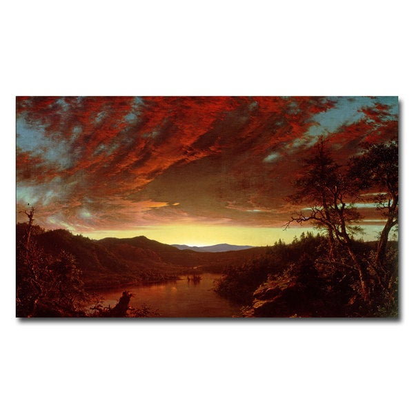 Fredric Church 'Twilight in the Wilderness' Canvas Art