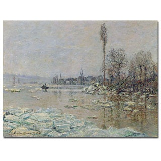 Claude Monet 'The Breakup of Ice 1880' Canvas Art