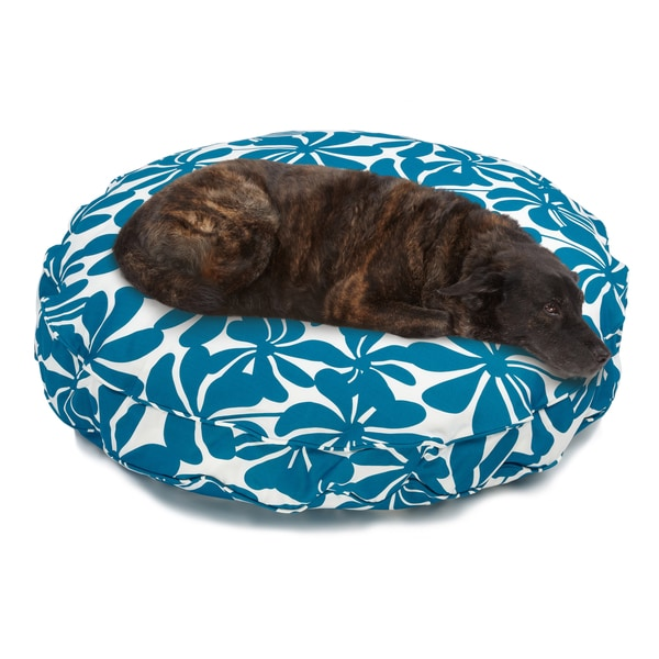 Sweet Dreams Blue Indoor/ Outdoor Round Corded Pet Bed