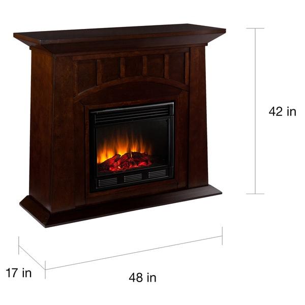 Harper Blvd Bayard Espresso Electric Fireplace - Free Shipping ...