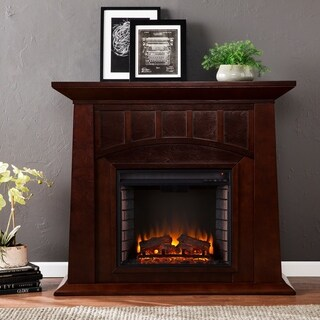Harper Blvd Bayard Espresso Electric Fireplace