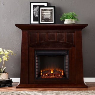 Copper Grove Strathyre Espresso Electric Fireplace