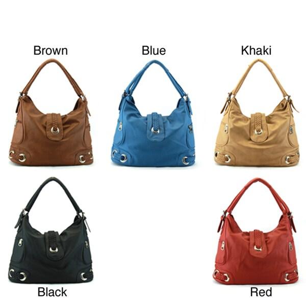 Perfect Image Zip-Top Hobo Bag