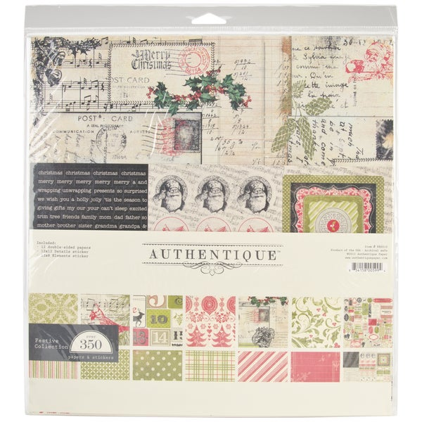 Authentique Festive Collection 12x12-inch Paper Kit