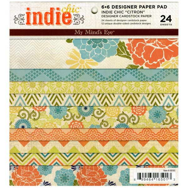 Indie Chic Citron 6x6-inch Paper Pad (24 Sheets)