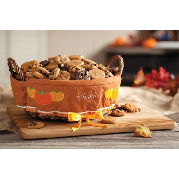 Mrs. Fields Pumpkin Patch Lined Sampler Basket