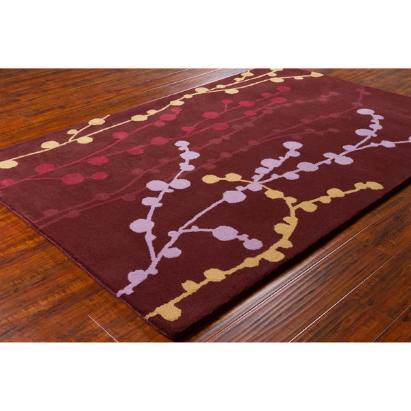 "Transitional Allie Handmade Floral Wool Rug (5' x 7'6"")"