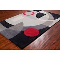 Allie Handmade Geometric Wool Rug