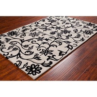 Persian Rugs Modern Fl Black White Red Area Rug 7 10 X 2