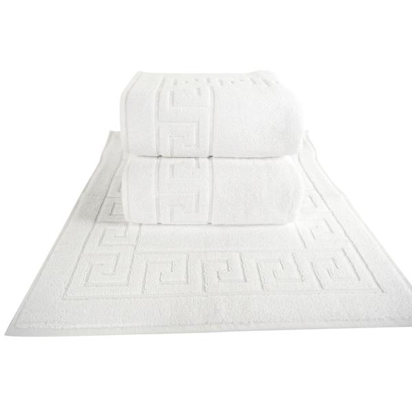 Classic Turkish Towel Greek Key Pattern Hotel Bathmat