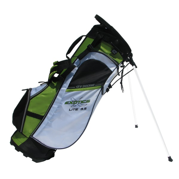 Tour Edge Green/ White/ Black Exotics Lite 3.5 Stand Bag