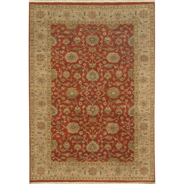 Hand-knotted Oriental Brick Red Wool Area Rug (2' x 3')
