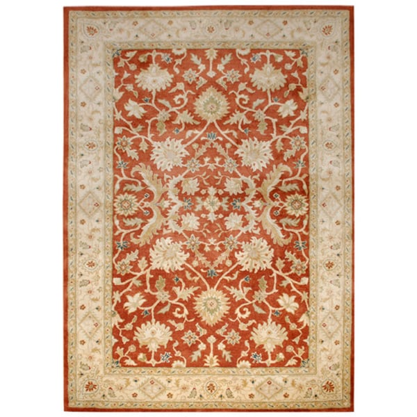 Hand-tufted Oriental Rust Wool Area Rug (9'6 x 13'6)
