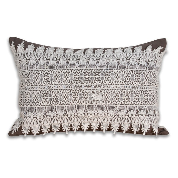 Marlo Lorenz Black/ White Adeline Lace Pillow