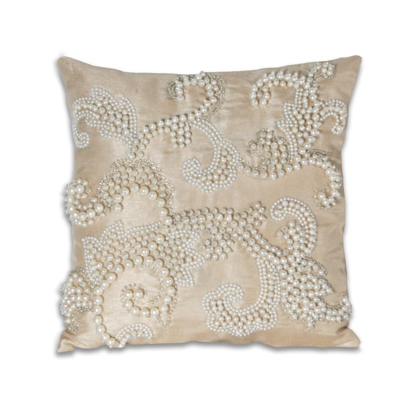 Marlo Lorenz Alaina Pearl Scroll 12x12-inch Pillow