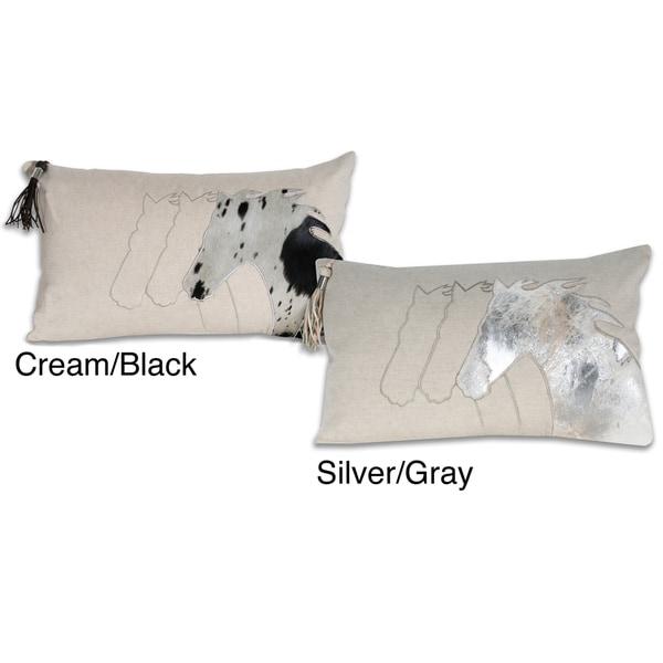 Marlo Lorenz Cortland Pony Leather 12x20-inch Pillow
