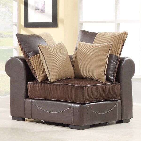 Alessandra Chocolate Corner Chair